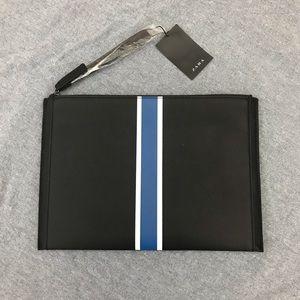 Zara Man black with stripes clutch wristlet option